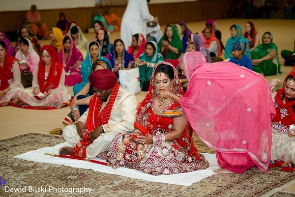 Ceremony in Fremont, CA Sikh Fusion Wedding by Dawid Bilski Photography