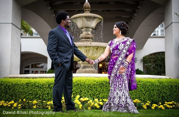 Reception Portrait in Fremont, CA Sikh Fusion Wedding by Dawid Bilski Photography