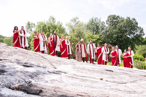 Bridal Party Portraits in Danbury, CT Indian Wedding by KSD Weddings