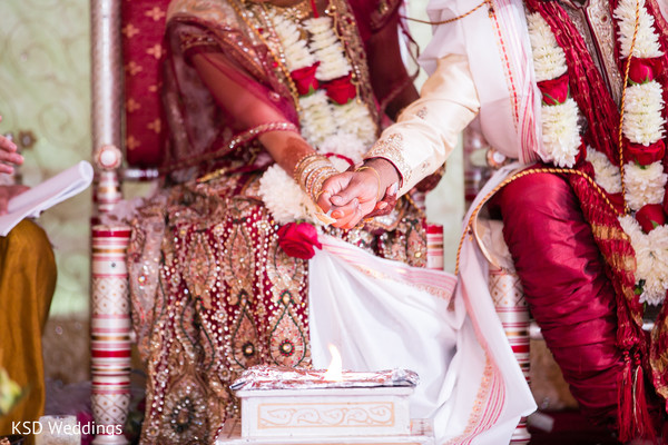 Ceremony in Danbury, CT Indian Wedding by KSD Weddings