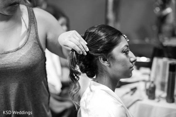 Getting Ready in Danbury, CT Indian Wedding by KSD Weddings