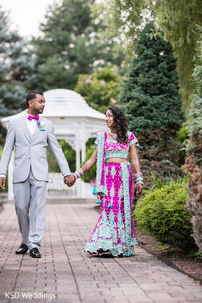 Reception Portraits in Danbury, CT Indian Wedding by KSD Weddings