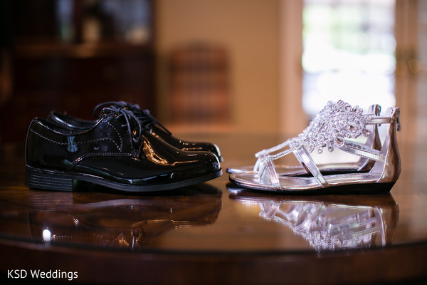 Reception Shoes in Danbury, CT Indian Wedding by KSD Weddings