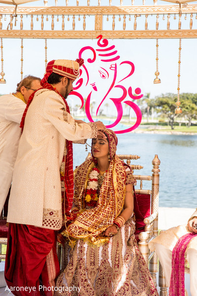Ceremony in Long Beach, CA Indian Wedding by Aaroneye Photography