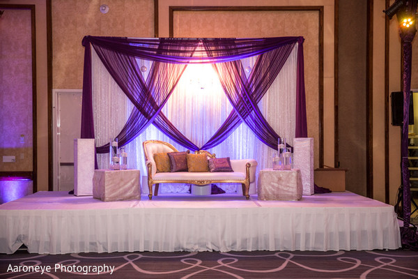 Sweetheart Stage in Long Beach, CA Indian Wedding by Aaroneye Photography