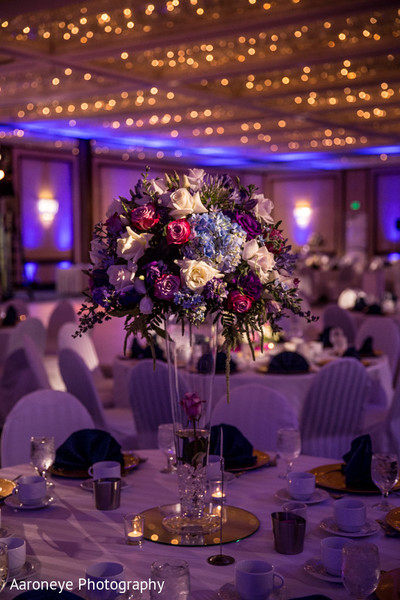 Centerpiece in Long Beach, CA Indian Wedding by Aaroneye Photography
