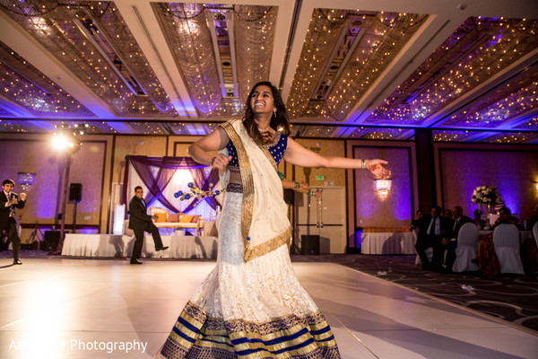 Reception in Long Beach, CA Indian Wedding by Aaroneye Photography