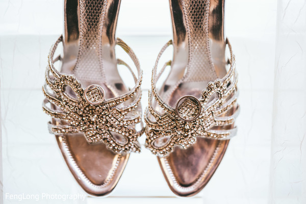 Bridal Shoes in Atlanta, GA Pakistani Wedding by FengLong Photography