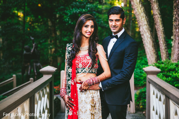 Reception Portraits in Atlanta, GA Pakistani Wedding by FengLong Photography
