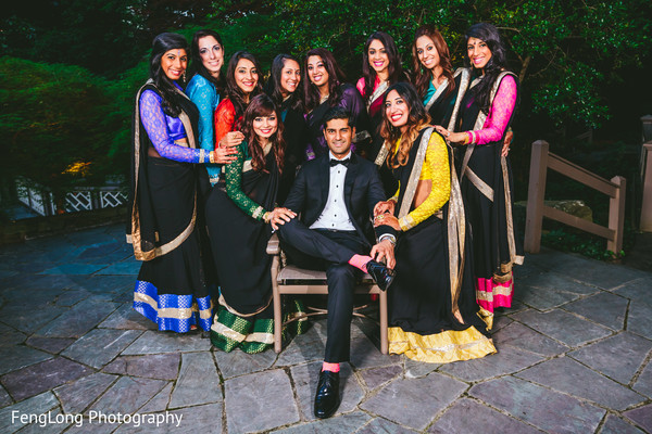 Bridal Party Portraits in Atlanta, GA Pakistani Wedding by FengLong Photography