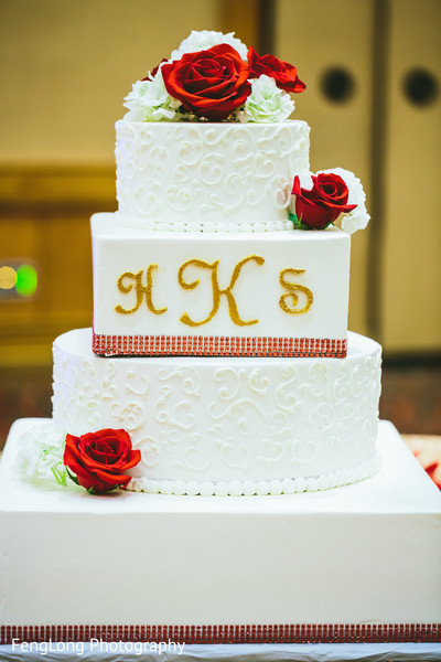 Wedding Cake in Atlanta, GA Pakistani Wedding by FengLong Photography