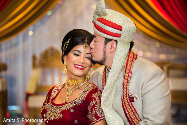 First Look in Orlando, FL Indian Fusion Wedding by Amita S. Photography