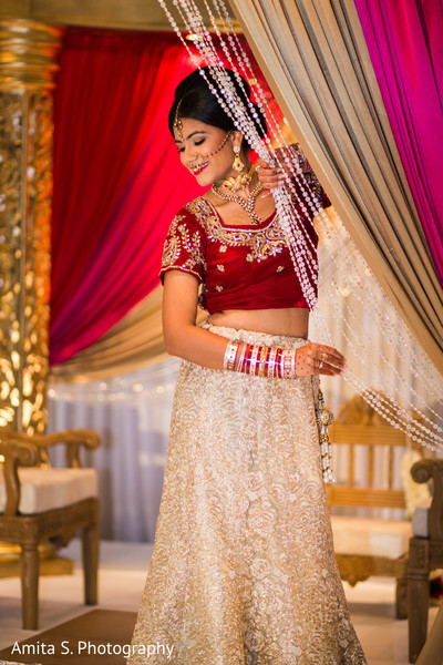 Bridal Portrait in Orlando, FL Indian Fusion Wedding by Amita S. Photography