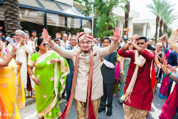 Baraat in Orlando, FL Indian Fusion Wedding by Amita S. Photography