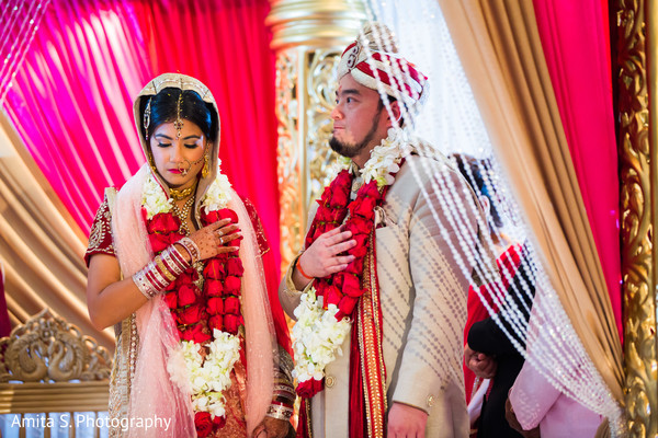 Ceremony in Orlando, FL Indian Fusion Wedding by Amita S. Photography