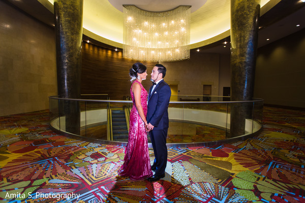 Reception Portrait in Orlando, FL Indian Fusion Wedding by Amita S. Photography