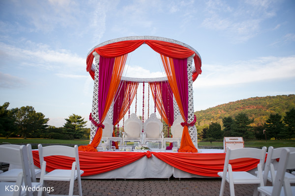 Mandap in Mahwah, NJ Indian Wedding by KSD Weddings