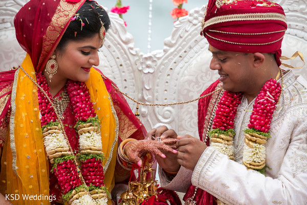Ceremony in Mahwah, NJ Indian Wedding by KSD Weddings