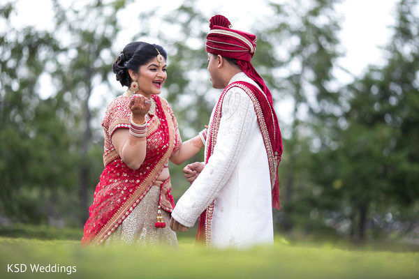 First Look Portraits in Mahwah, NJ Indian Wedding by KSD Weddings