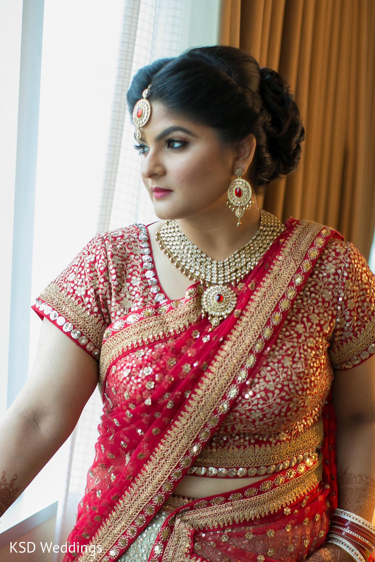 Bridal Portrait in Mahwah, NJ Indian Wedding by KSD ...