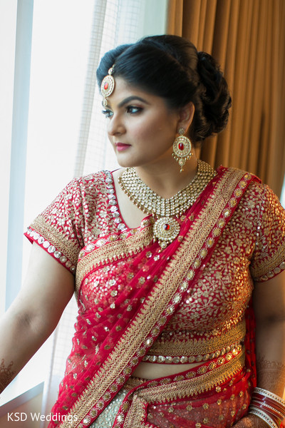 Bridal Portrait in Mahwah, NJ Indian Wedding by KSD Weddings