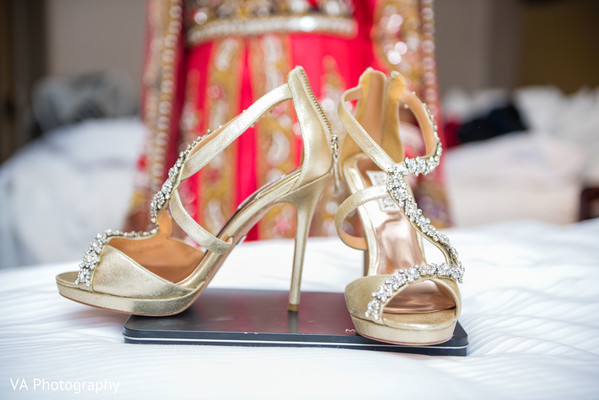 Shoes in San Jose, CA Sikh Fusion Wedding by VA Photography