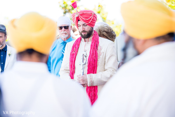 Baraat in San Jose, CA Sikh Fusion Wedding by VA Photography