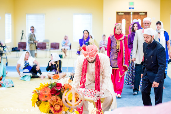 Ceremony in San Jose, CA Sikh Fusion Wedding by VA Photography