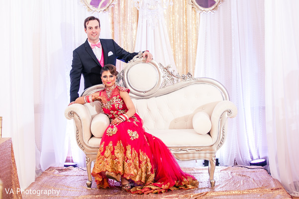 Reception Portrait in San Jose, CA Sikh Fusion Wedding by VA Photography