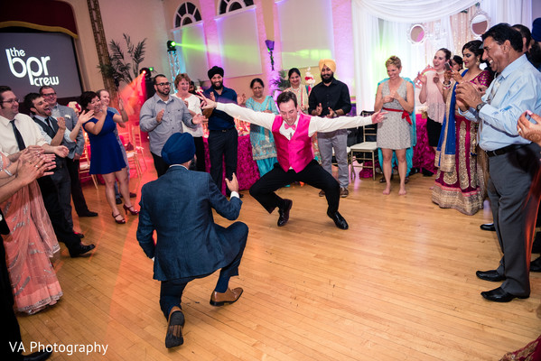 Reception in San Jose, CA Sikh Fusion Wedding by VA Photography