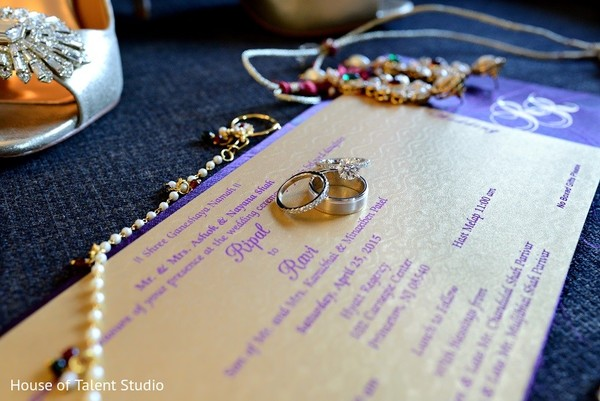 Wedding Invitation & Bridal Jewelry in Princeton, NJ Indian Wedding by House of Talent Studio