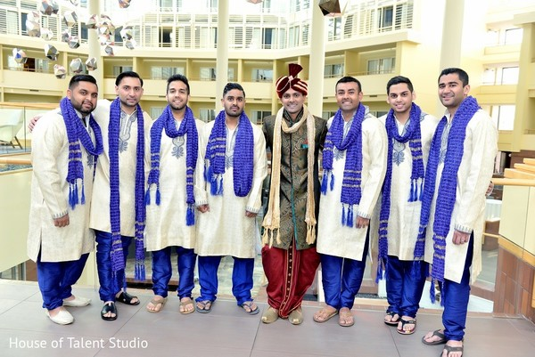 Groomsmen in Princeton, NJ Indian Wedding by House of Talent Studio