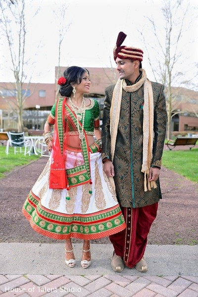 First Look in Princeton, NJ Indian Wedding by House of Talent Studio