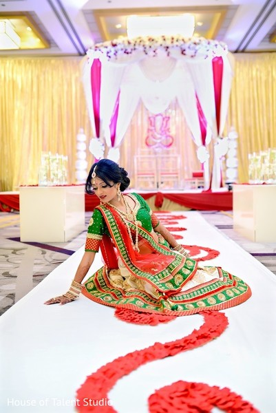 Bridal Portrait & Mandap in Princeton, NJ Indian Wedding by House of Talent Studio