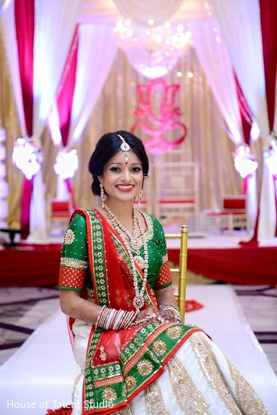 Bridal Portrait in Princeton, NJ Indian Wedding by House of Talent Studio