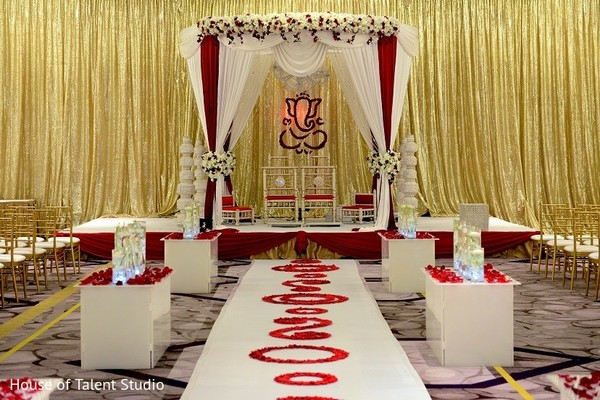 Mandap in Princeton, NJ Indian Wedding by House of Talent Studio
