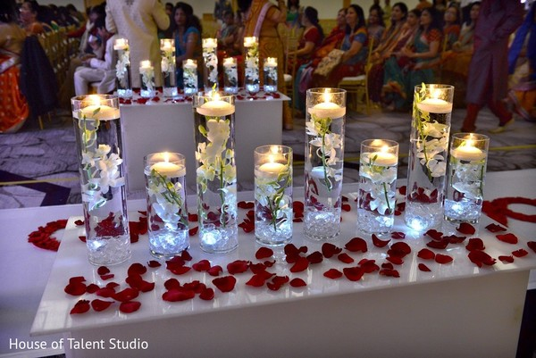 Floral & Decor in Princeton, NJ Indian Wedding by House of Talent Studio