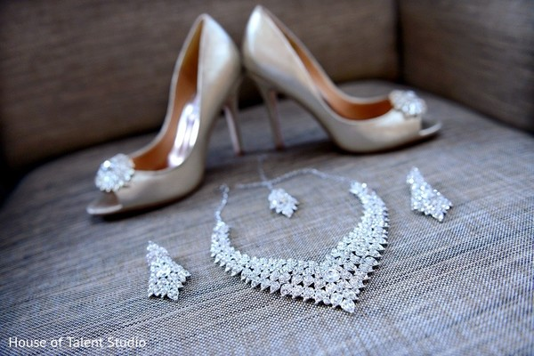 Bridal Jewelry & Shoes in Princeton, NJ Indian Wedding by House of Talent Studio