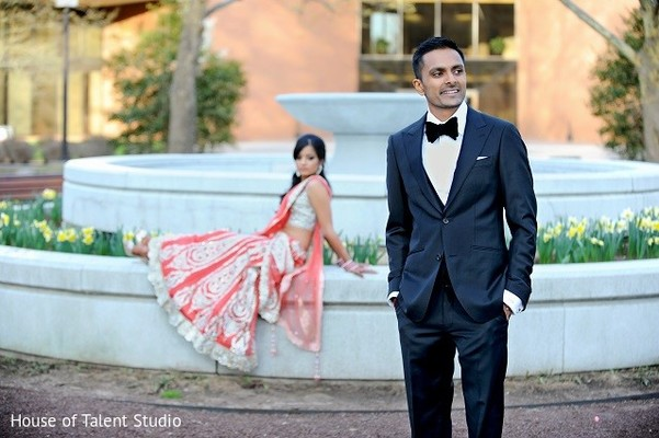 Reception Portrait in Princeton, NJ Indian Wedding by House of Talent Studio