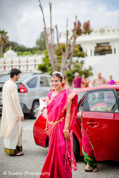 First Look in Malibu, CA South Indian Fusion Wedding by AJ Studios Photography