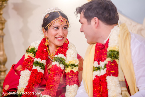 Ceremony in Malibu, CA South Indian Fusion Wedding by AJ Studios Photography