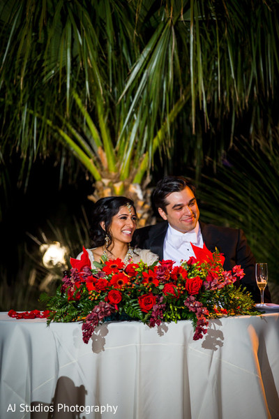 Reception in Malibu, CA South Indian Fusion Wedding by AJ Studios Photography
