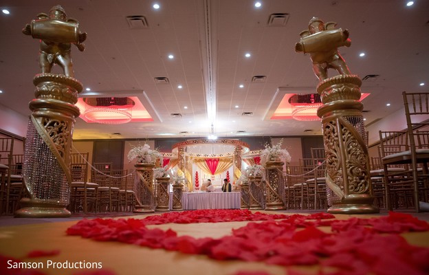 Ceremony Aisle in St. Louis, MO Indian Wedding by Samson Productions