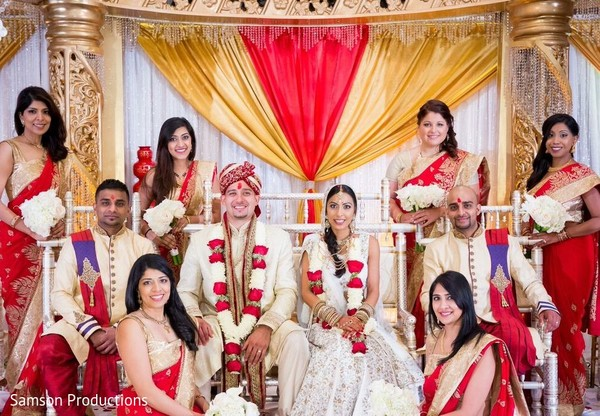 Bridal Party Portraits in St. Louis, MO Indian Wedding by Samson Productions