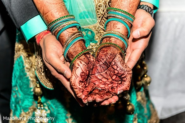 Reception Portrait & Mehndi in Raleigh, NC Indian Wedding by Maadhurya Photography