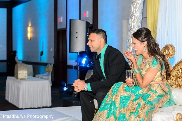 Reception in Raleigh, NC Indian Wedding by Maadhurya Photography