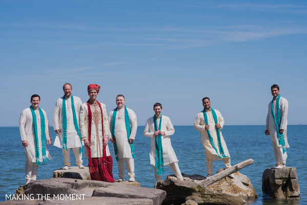 Groomsmen in Cleveland, OH Indian Wedding by Making the Moment
