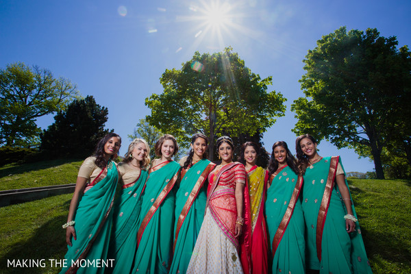 Bridal Party in Cleveland, OH Indian Wedding by Making the Moment