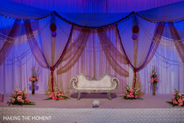 Sweetheart Stage in Cleveland, OH Indian Wedding by Making the Moment