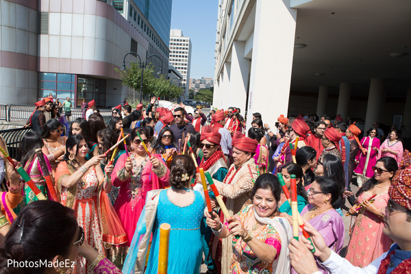 Baraat in Jersey City, NJ Indian Wedding by PhotosMadeEz
